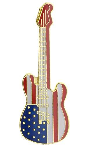 Rock Guitar USA Hat or Lapel Pin PPM4130
