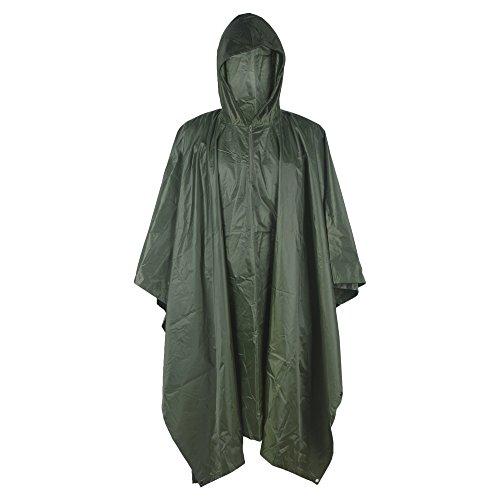 LOOGU Military Camouflage Waterproof Raincoat