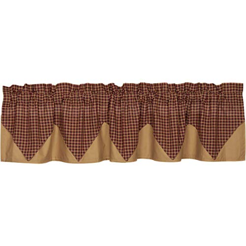 72 in. Patch Plaid Valance Layered Lined