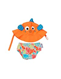 Zoocchini Swim Diaper and Sun Hat Set Sushi- 6-12m, Medium
