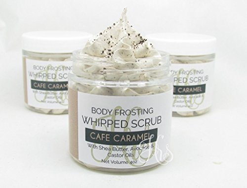 Cafe Caramel Whipped Soap Coffee Scrub | Body Scrub | Whipped Scrub | Sugar Scrub | Gift for Her (Handmade Sugar Whipped)