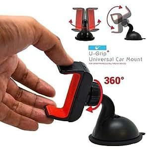 GDW coche u-agarre universal de montaje en parabrisas tablero de instrumentos para iphone 5 / 5s / 5c / 4 / 4s y Samsung Galaxy S2 / S3 / S4