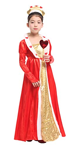 stylesilove Adorable Little Girls Halloween Costume Party Cosplay Dress (M/4-6 Years, Red Heart -