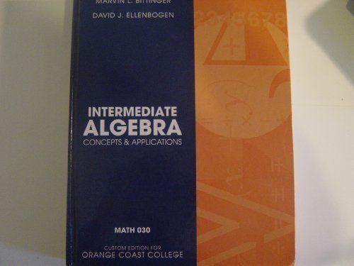 Intermediate Algebra: Concepts and Applications (Annotated Instructor's Edition)