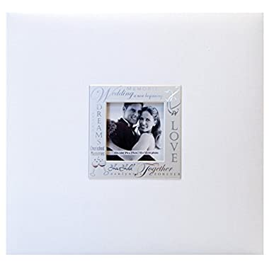 MCS MBI Expressions Postbound Album 12-Inch-by-12-Inch Page , Wedding-White , 13.5 x 12.5 Overall