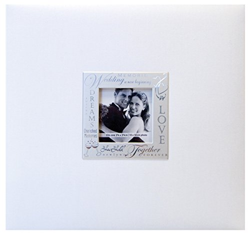 MBI 13.2x12.5 Inch Expressions Postbound Album with 12x12 Inch Pages, White (803516)