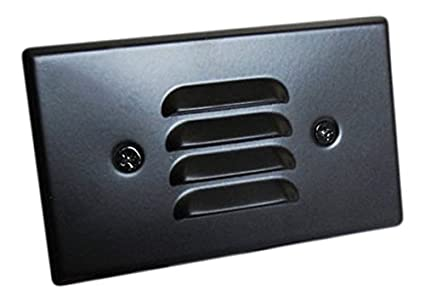 Elco Lighting ELST62B 120V Incandescent Mini Step Light with Louvered Faceplate