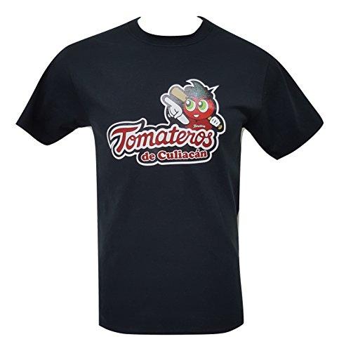 Tomateros de Culiacan Mexican Baseball Pacific League Men's T-Shirt Crew Neck 100% Cotton (XX-Large, Black)