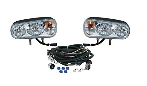 Snowplow Dual Beam Halogen Headlamp Light Kit for Western Boss Meyer Fisher Blizzard Curtis