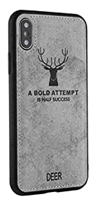 i phone cover Deer 3D design anti sweat, silver color