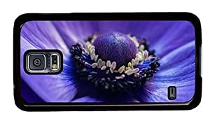 Hipster customizable Samsung Galaxy S5 Cases anemone flower PC Black for Samsung S5