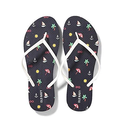 Old Navy Women Beach Summer Casual Flip Flop Sandals Beach Navy 8