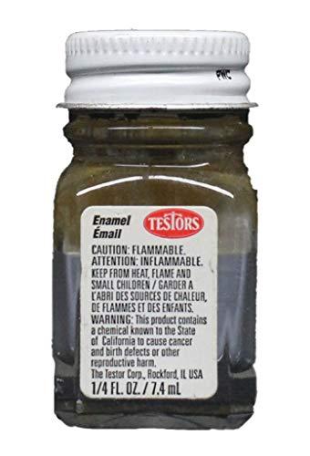 Testors Flat Enamel Paint Gray 0.25 oz Bottle #1163