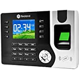 Anself 2.4 TFT Biometric Fingerprint Attendance Machine ID Card Reader Time Clock Recorder Employee Checking-in TCP/IP Function USB DC12V/1A