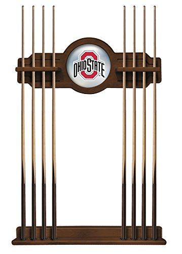 Ohio State Table Game (Holland Bar Stool Co. Ohio State Cue Rack in Chardonnay Finish)