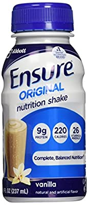 Ensure Nutrition Homemade Vanilla Milkshake, 8 fl. oz. Bottles, 30 Count