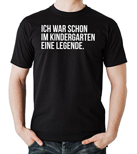 Ich War Schon Im Kindergarten Eine Legende T-Shirt Black