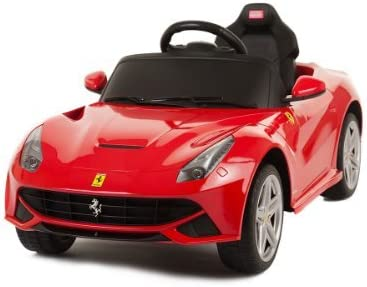 Amazon Com Zh Licensed By Ferrari New 2014 Model Ride On Toy Car With Remote Contol 6v Kids Red Ferrari F12 Toys Games