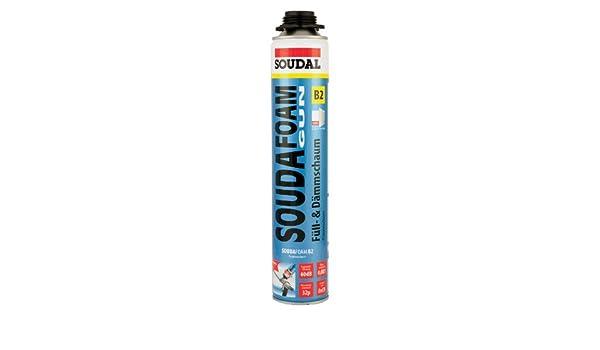 Soudal Souda - Pistola de espuma | profesional PU pistola de espuma (ruido protección 60dB) contenido: 750 ml | color: champán | clase de materiales de ...