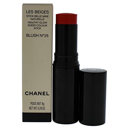 Chanel Les Beiges Healthy Glow Sheer Colour Stick Blush 25 for Women, 0.28 Ounce (Chanel Les Beiges Healthy Glow Sheer Colour Stick)
