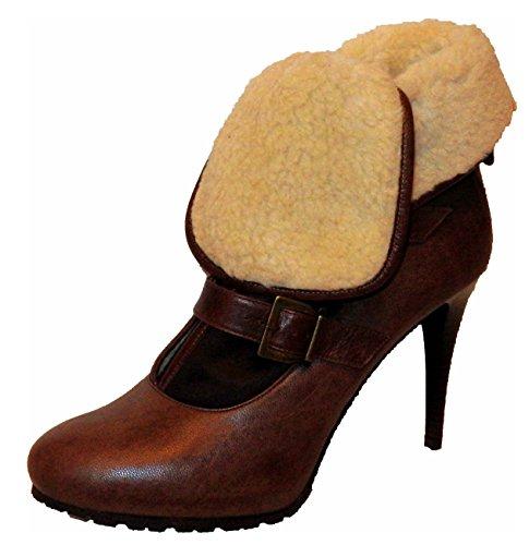 APART Damen Schuhe Stiefelette Stiefel Winterstiefel Gefüttert Braun Größe 41