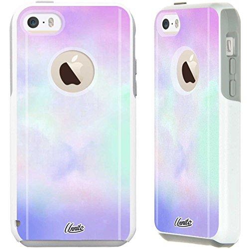 Unnito iPhone 5C Case - Hybrid Commuter Case | Slim Cover with Hard Shell Design and Soft Inner Layer Compatible with iPhone 5C White Case - Pastel Sweet (Best Iphone 5c Cases)