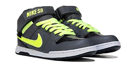Skateboarding Shoe Boys (NIKE Boys' Mogan Mid 2 JR Skate Shoe, Dark Grey/Volt/Black/White, 2.5 M US Little Kid)