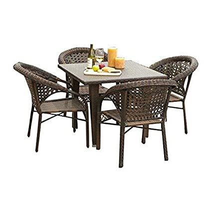 Virasat Furniture/Garden Furniture/Balcony Furniture Set for Outdoor/Indoor Use 1 Table with 4 Chairs(without glass)/Color-Multy