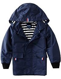 Boys Girls Waterproof Hooded Jackets Cotton Lined Rain...