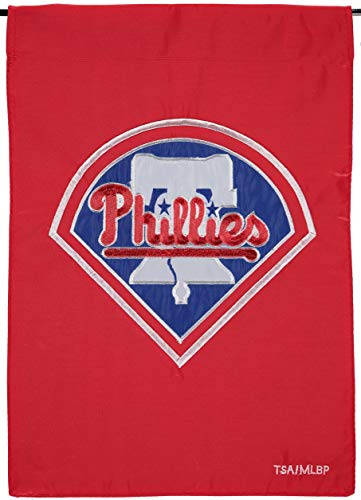(Philadelphia Phillies Premium 2-Sided Garden Flag Applique & Embroidered Banner)
