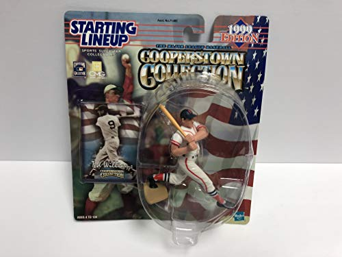 Ted Williams Boston Red Sox HOF 1999 Collectible Toy Action Figure with Trading - Ted Figurine Williams