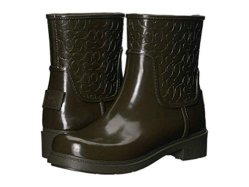 Coach Women's Signature Rain Boots Fern 7 M US