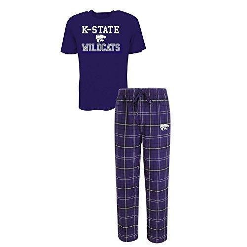 Concepts Sport Men's Kansas State University Pajama Pants and T-Shirt Sleepwear Set (XX-Large)