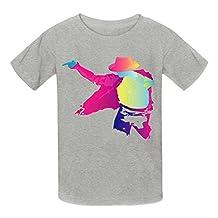 Kidsloveit Kids Boys' Trendy Michael Jackson Cotton Crew Neck T Shirts
