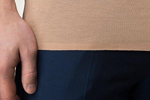 Unsichtbares Unterhemd für Männer aus feiner Baumwolle