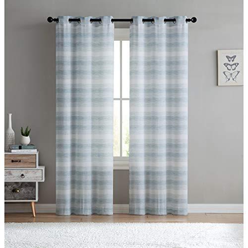 Hampton Bedroom South - VCNY Home South Hampton Window Treatment Curtains 76x95 Aqua