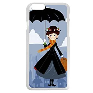 "Customized White Hard Plastic Plastic Disney Cartoon Mary Poppins iPhone 6 4.7 Case, Only fit iPhone 6 4.7"" hjbrhga1544"