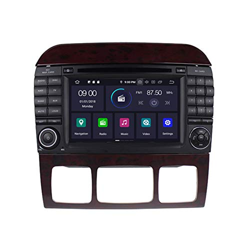 Autosion in Dash Android 9.0 Car DVD Player Radio Head Unit GPS Navi Stereo for Mercedes Benz S Class W220 1998-2006 Support Steering Wheel Control