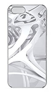 iPhone 5 5S Case 3D white linear 3 PC Custom iPhone 5 5S Case Cover Transparent
