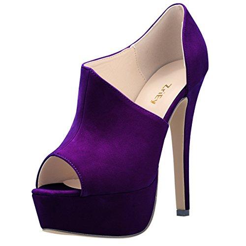 Women's Sexy Fashion Open Platform Stiletto High Heels Classic Booties Court