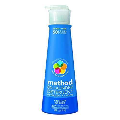 Method 01127CT 8X Laundry Detergent, Fresh Air Scent, Pump Bottle, 20 oz. Volume (Pack of 6) by Method