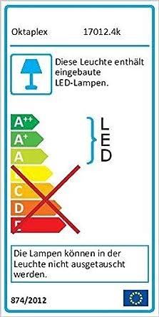 Kellerlampe LED Ovalleuchte Kellerleuchte LED Oktaplex Lighting 4000K 800lm Neutralwei/ß Base Oval IP65 9W Au/ßenleuchte