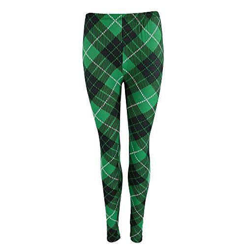 Two Left Feet Lovely St. Patrick's Day Lucky Leprechaun Shamrock Green Irish Leggings (Large/X-Large, Off ()