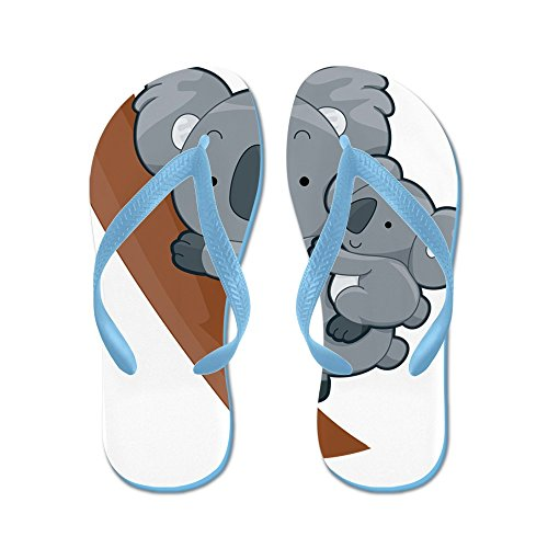 Cafepress Twee Koalas - Flip Flops, Grappige Leren Sandalen, Strand Sandalen Caribbean Blue