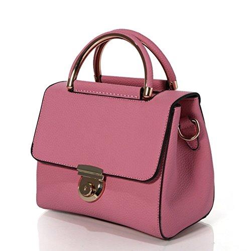 Chocolate Crocodile Faux Leather (HNYEVE HB1200027C6 Fashionable PU Leather Korean Style Women's Handbag,Oval Messenger Bag)