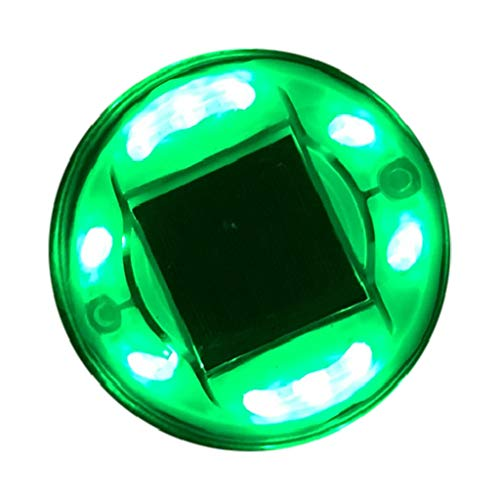 10LED Round Waterproof Spike Lane Wall Control Light Outdoor Solar Powered Waterproof Party Atmosphere Light Anti-UV, Anti-Yellowing Lights for Outdoor Lawn Path (Green)