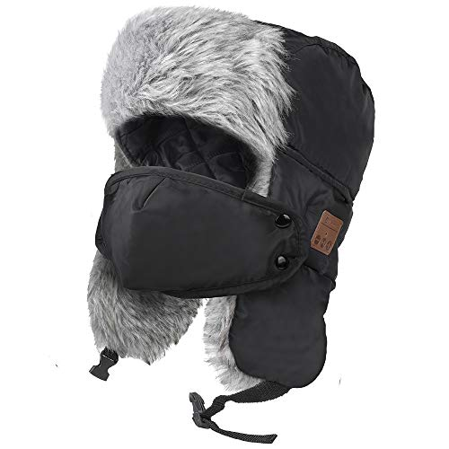 JARVANIA Bluetooth Trapper hat, Bluetooth Hats for Men and Women, Music Hat with Bluetooth Headphones, Electronic Gifts for Men, Fashion Gifts
