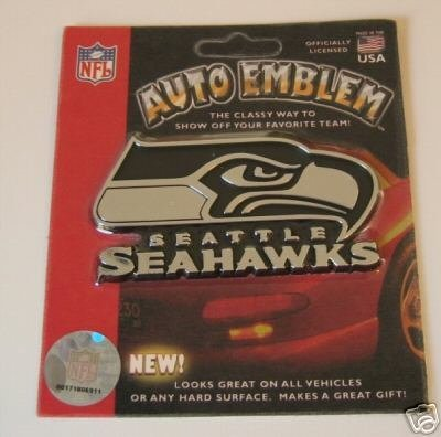 - Seattle Seahawks Chrome Car/Auto Team Logo Emblem