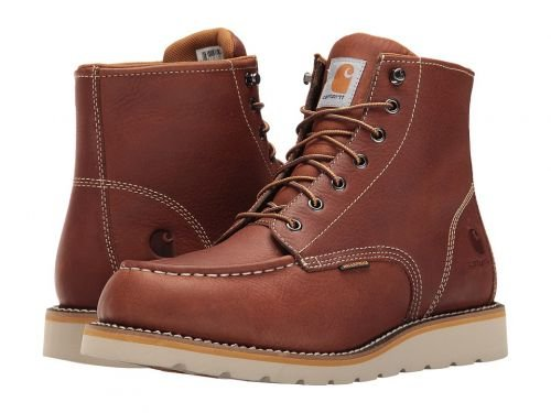 Carhartt(カーハート) メンズ 男性用 シューズ 靴 ブーツ 安全靴 ワーカーブーツ 6-Inch Tan Waterproof Wedge Boot Tan Oil Tanned Leather [並行輸入品] B07C8FY9GP 8 EE Wide