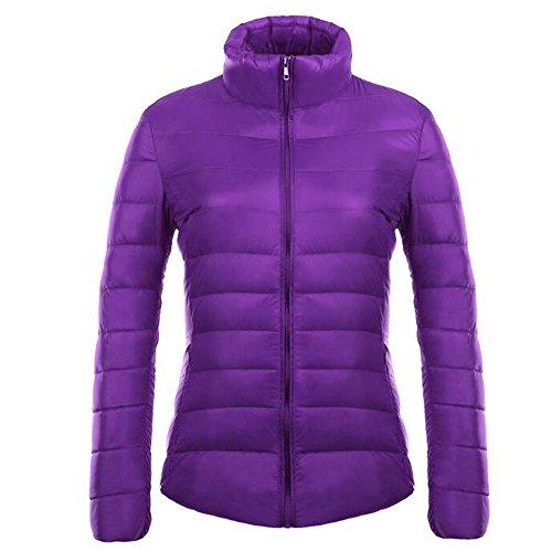 XFentech Jacket Women's Purple Ultra Coat Light Winter Weight Down Packable Puffer qRaZBq